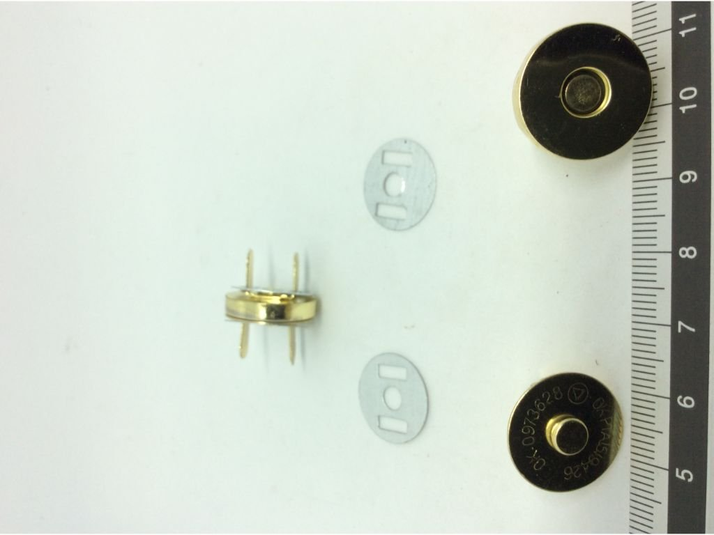 2 magnetic bag clasps snap fasteners 18mm   Pandoras Box