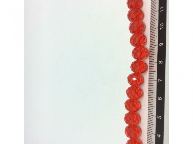 72 γυάλινες χάντρες, ροδέλα πολυγωνική 10χιλσ. - 1