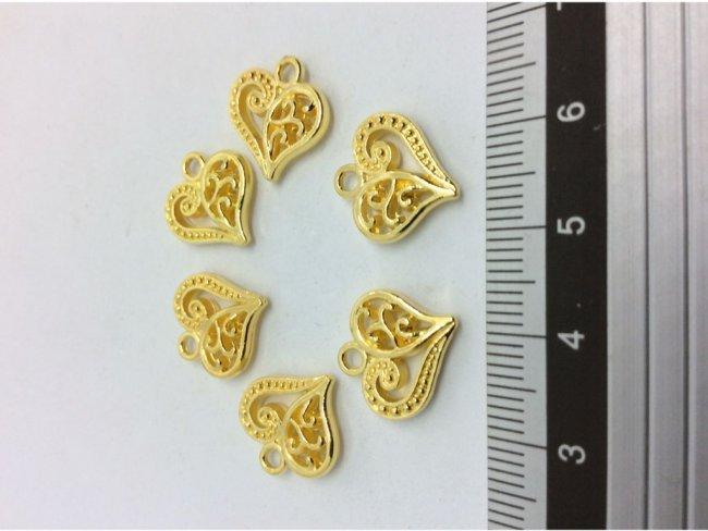 6 μοτίφ καρδιές 14x13χιλσ. - 1